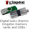 Digital lucky charms: Kingston memory cards and USBs