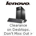 Clearance on Desktops