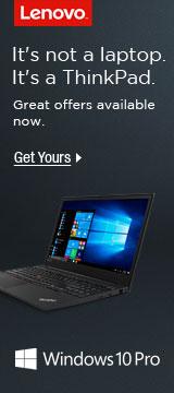 It's not a laptop, it's a ThinkPad