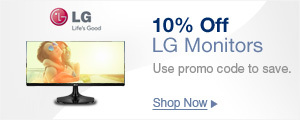 10% OFF LG Monitors with Promo Code: LGJULSALE