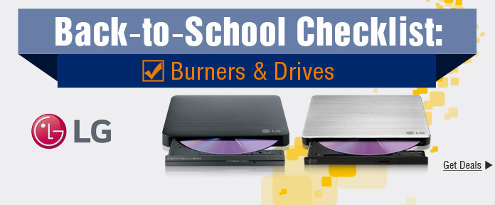Back-to-School LG Burners and Drives