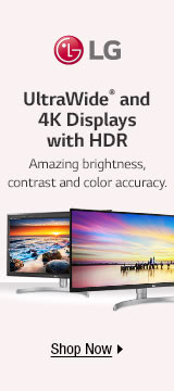 UltraWide and 4K displays with HDR