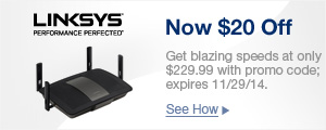 LINKSYS Now $20 off