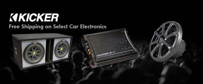 Free shipping on select car electronics