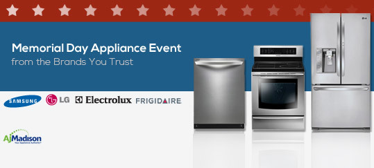 Memorial Day Appliance Event
