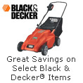 Great Savings on Select Black & Decker Items