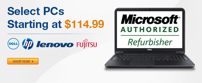 Select PCs Starting At $114.99