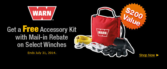 Get a free accessory kit with Mail-in-rebate on select winches
