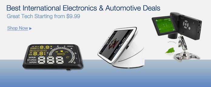 Best international electronics & automotive deals
