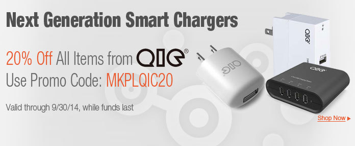 20% off all items from QIC use promo code: MKPLQIC20
