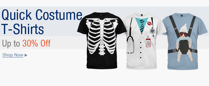 Quick costume t-shirts up to 30% off