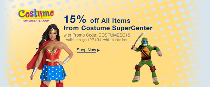 15% off All Items from Costume SuperCenter