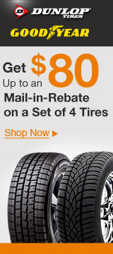 Get up to an $80 Mail-in-Rebate on a Set of 4Tires