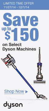 Save Up to $150 on Select Dyson Machines