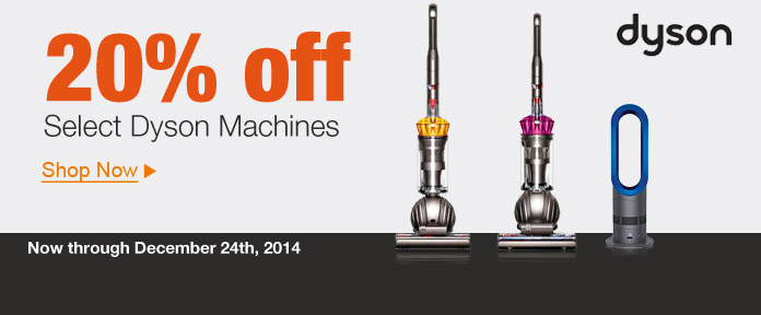 20% Off Select Dyson Machines