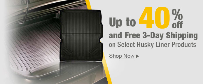 Up to 40% off and Free 3-DAY Shipping on select Husky Liner Products