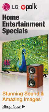 Home entertainment specials
