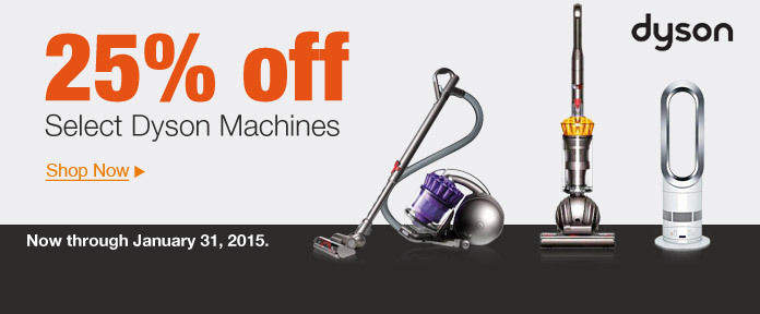 25% off select Dyson Machines