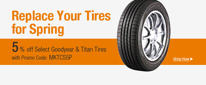 Replace your tires for spring