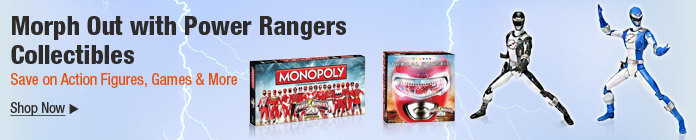 Morph out with power rangers collectibles