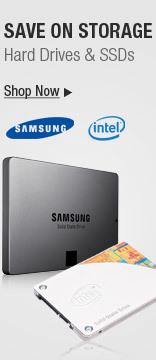 Save on storage hard drives & SSDs