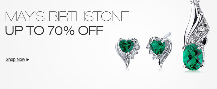 May's Birthstone, Up to 70% off