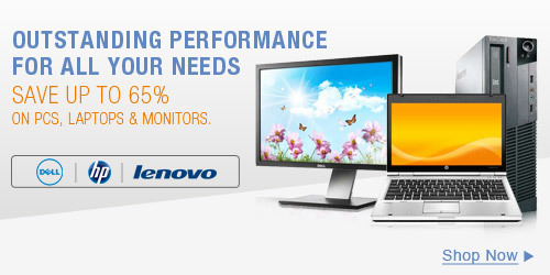 Save up to 65% on PCs, Laptops & Monitors