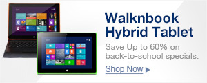 Walknbook Hybrid Tablet PC.