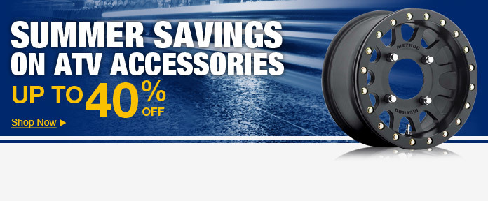 Summer savings on ATV accessories