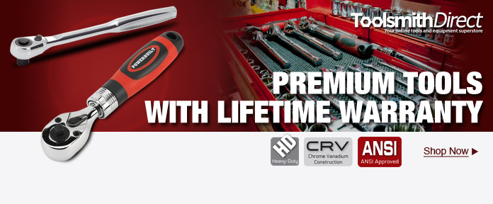 Premium tools with lifetime warranty