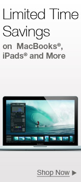 Limited time savings on MacBooks iPads and More