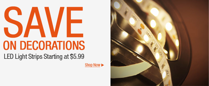 Save on Decorations LED light strips starting at $5.99