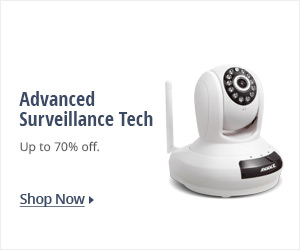 Advanced surveillance tech: up to 70% off