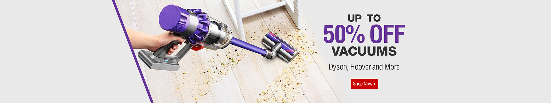 Up to 50% off Vacuums