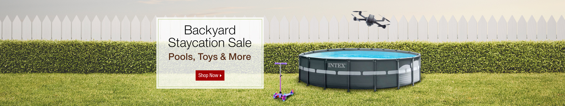 Backyard Staycation sale