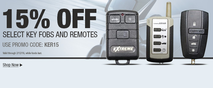 15% OFF SELECT KEY FOBS AND REMOTES