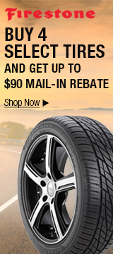 Buy 4 select tires and get up to $90 mail-in rebate