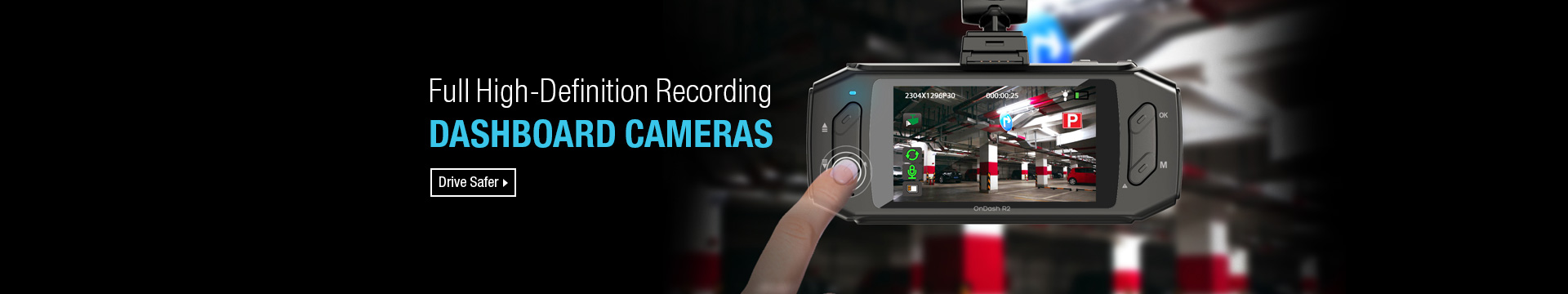 Full High-Definition Recording Dashboard Cameras