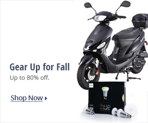 Gear up for fall, up to 80% off