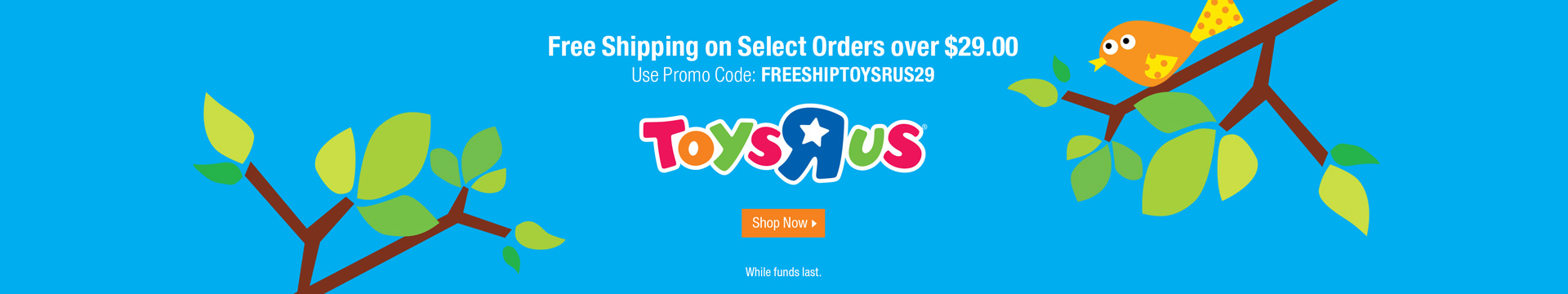 Free shipping on select orders over $29.00