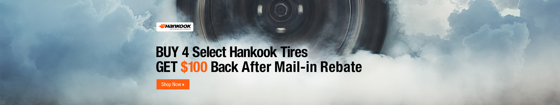Buy 4 select Hankook tires get $100 back after mail-in rebate