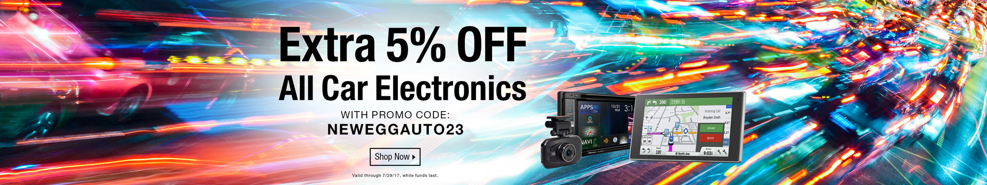 Extra 5% off All Car Electronics with Promo Code