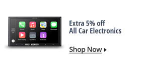 Extra 5% off all car electronics