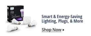 Smart & energy –Saving lighting. Plugs & more
