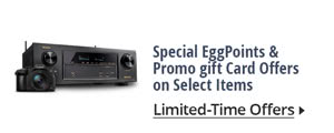 Special egg points & promo gift card offers on select items