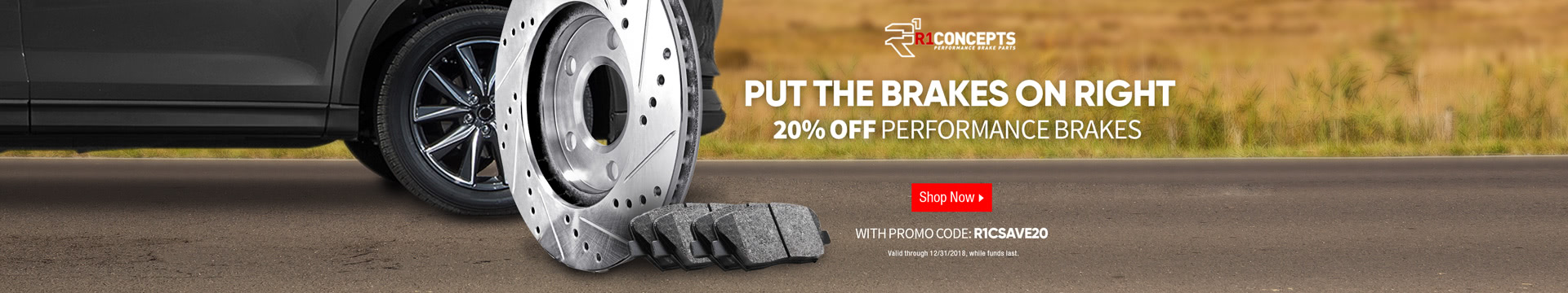 20% off performance brakes