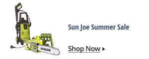 Sun Joe Summer Sale