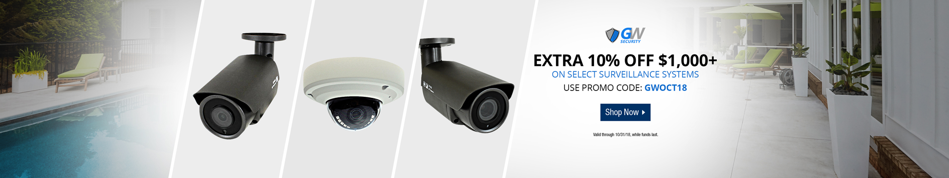 10% off 1000+ on Surveillance Systems with Promo Code