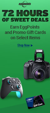 Limited Sale Great Deals on Tech with Gift Cards and EggPoints
