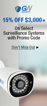 15% off 3,000+ on Surveillance Systems